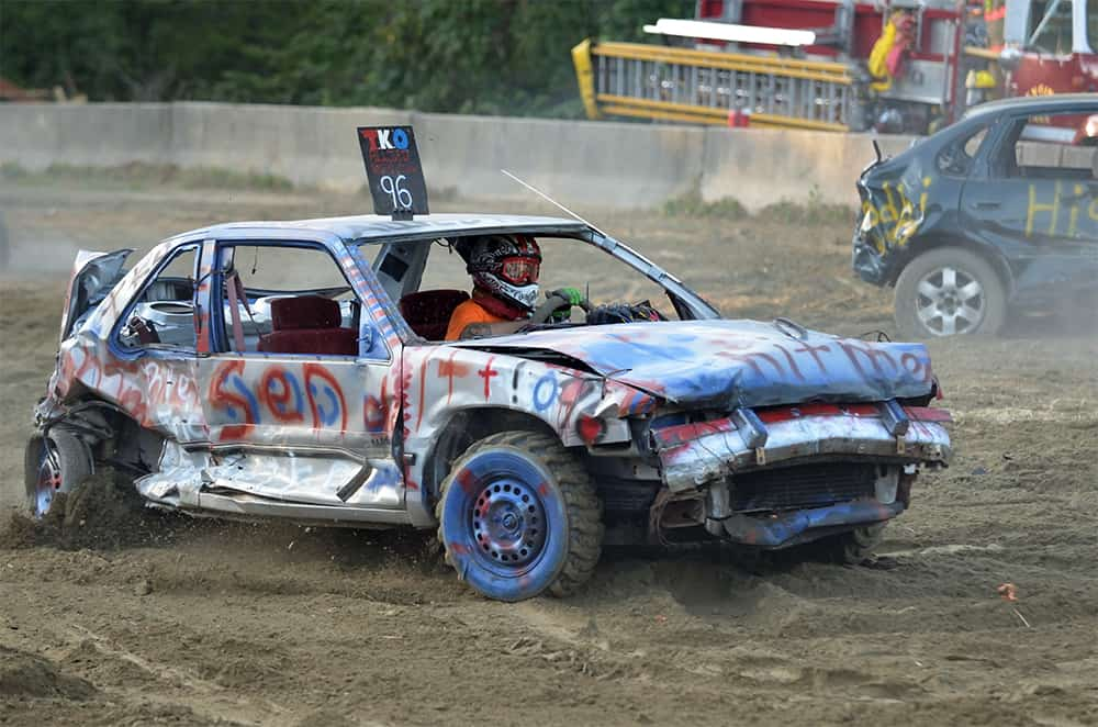 Demolition Derby at the Lebanon Country Fair